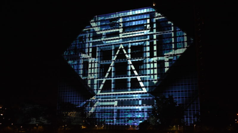 Geometrie luminose sul Laghetto dell'Eur: il Solid light festival