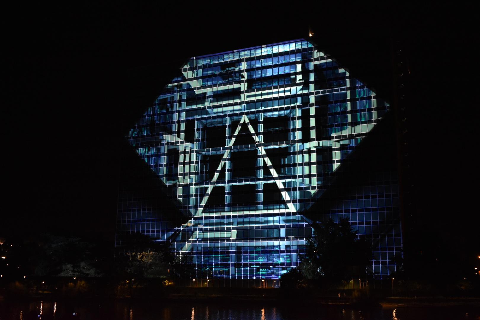 Geometrie luminose sul Laghetto dell'Eur: il Solid light festival